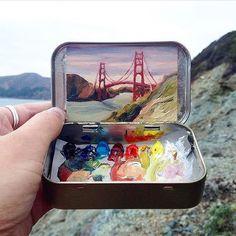 Little copy of Golden Gate  #USA | : @heidi.annalise.art  #WonderfulWorld