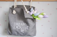 Great gift for best friend. Handbag – Bag ENERGY with embroidery – a unique product by MotivationFactory via en.DaWanda.com