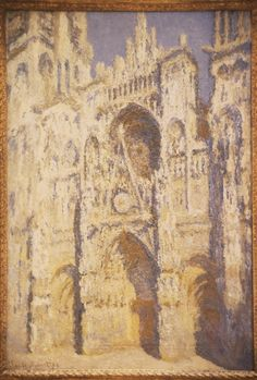 Rouen Cathedral - Monet, 1893    I love the Rouen Cathedral series