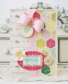 Sweet hexagon card