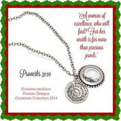 Proverbs necklace from #premierdesigns 2014 Christmas Collection