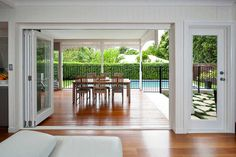 Architects Hawthorne, Brisbane, QLD 4171 - Queenslander Renovation Architects Bifold doors to rear of house Outdoor Rooms, Indoor Outdoor, Outdoor Living, Brisbane, Queenslander House, Loft, Outdoor Entertaining, Home Renovation, My Dream Home