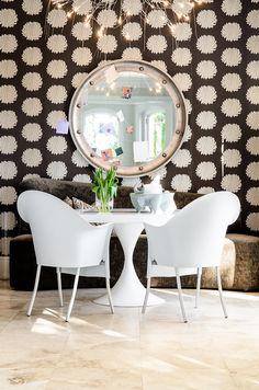 black and white home decor wallpaper love