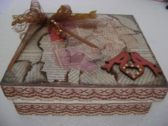 Caixa decorada | OFICINA DA CLARITA | Elo7