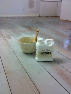 Annie Sloan chalk paint and lacquer for floors. Great idea for kids room in the attic for a more distressed look