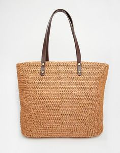 Vero+Moda+Straw+Beach+Bag