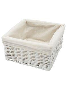 White Lined Willow Basket Set Nursery Organization, Storage Organization, Back To University, Rustic Baskets, White Home Decor, White Houses, Looking For Women, Basket Willow, Organising