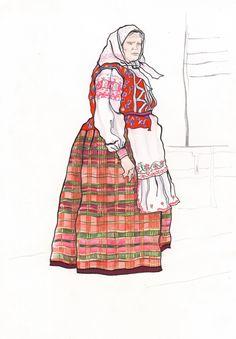 Сообщество иллюстраторов / Иллюстрации / Кищук Ксения / Белорусский народный костюм