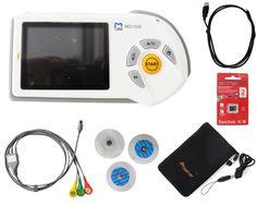 ChoiceMed - Medidor de frecuencia cardíaca portátil (MD 100E, pantalla LED, tarjeta de memoria, electrodos y cable): Amazon.es: Salud y cuidado personal