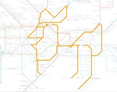 MAPS & CITY animals on the underground - cockerel
