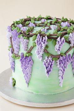 Spring Cake, Summer Cakes, Cake Decorating Videos, Cake Decorating Techniques, Pretty Cakes, Beautiful Cakes, Cake Chart, Birthday Cake Writing, Buttercream Cake Designs