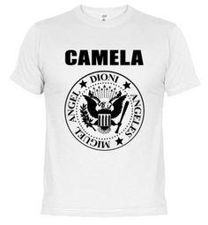 Camiseta Camela Ramones blanca chico