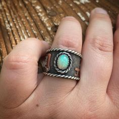 Cowgirl Jewelry, Western Jewelry, Unique Jewelry, Forms Of Communication, Wide Band Rings, Product Description, Turquoise, Jewels, Chain