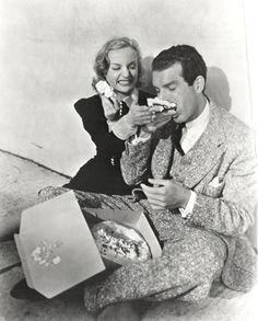 Carole Lombard and Fred MacMurray (?)