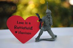 """Love is a Battlefield"" Valentine idea"