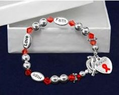 red ribbon survivor bracelet - special, only while supplies last! http://bloodclotrecovery.net/shop/