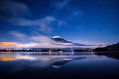 Mount Fuji of the moonlight #photography #moonlight #fuji #japan #mtfuji #sky #stars