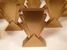 Gatsby Inspired Art Deco Escort Card Holders by MC2WoodWorks