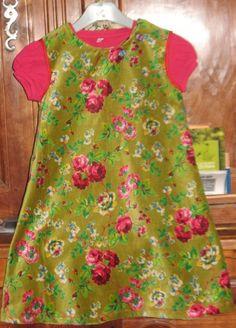 Robe trapèze en velours