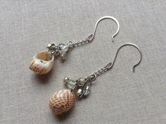 Sea Shell Cluster Earrings // Dangle // Earthy Beach Jewelry // Salty Sparrow Designs  on Etsy, $10.00