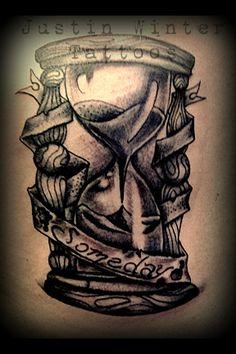 #Hourglass Tattoo by Justin Winter Seattle, Wa http://tattoo-ideas.us