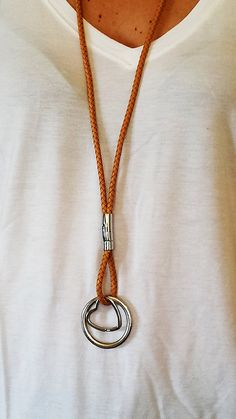 necklace handmade lanyard keychain leather by chicbelledejour