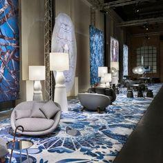 blaue phantasievolle Motive und Muster von Marcel Wanders