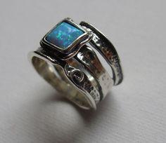 Online veilinghuis Catawiki: Zilveren Ring met Opaal -  Maat 17