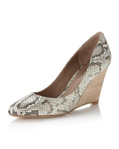 Belle by Sigerson Morrison - Snake-Print Wedge Pump - Last Call