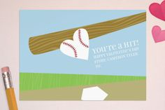 baseball valentine for boys...would make darling cookies! ::: What a Hit Classroom Valentine's Day Cards by Minted