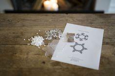 Materialer og skabelon til hama perle julepynt
