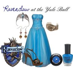 Ravenclaw at the Yule Ball, created by nearlysamantha on Polyvore