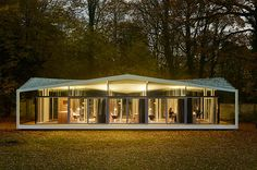 Built by Barkow Leibinger in Berlin, Germany with date Images by Stefan Müller. The American Academy in Berlin, founded in 1994 by Richard C. Kissinger, and Richard von Weizsäck. Small Summer House, Summer Houses, Lakeside Garden, Barcelona Pavilion, Garden Pavilion, Masonry Wall, Porch Area, Architecture Awards, High Walls
