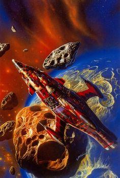 Bob Eggleton - Baroque spaceship