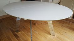 Oval shaped extendable dining table with chrome legs. Delivered to our client in London. Moon Table, Extendable Dining Table, Chrome, London, Legs, Top, Furniture, Home Decor, Expandable Dining Table