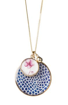 NAVY ORCHID CLUSTER (18K-GOLD-PLATED)