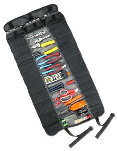 Features:  -25 pockets for wrenches, sockets, etc..  -Carry handle for easy transport.  -Buckle closure.  -Socket pockets holds 0.375'' or 0.25'' sockets.  -Arsenal collection.  Product Type: -Tool po