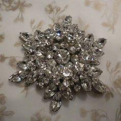 Vintage Juliana Brooch Clear Rhinestone Multi Layers by lauraab51, $75.00