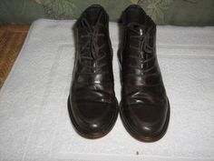 COLE HAAN WOMEN'S BROWN LEATHER LACE UP ANKLE BOOTS / SHOES SIZE 6B #ColeHaan #AnkleBoots #Casual