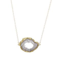 Look what I found at UncommonGoods: golden open agate necklace... for $72 #uncommongoods