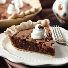 RECIPES YOU MAY LIKE TO TRY: Ghost-Topped Fudge Pie
