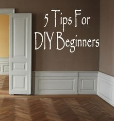 5 Tips for diy beginners actually love the low wainscoting idea for a higher ceiling look! Diy Projects To Try, Home Projects, Boho Home, Home Repairs, Home Interior, Interior Design, Do It Yourself Home, Diy Home Improvement, Home Hacks