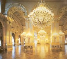 Throne Room, Royal Palace of Brussels, Belgium (19th c.).