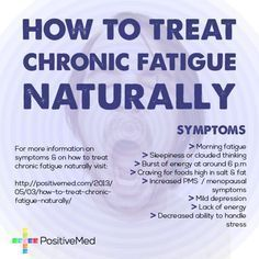 How to Treat Chronic Fatigue Naturally