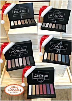 Moodstruck Addiction Palette would be an awesome Christmas gift!Take it from serene to extreme with seven crease-resistant, fade-resistant, long-wearing, buildable colors! Now available in 5 amazing color palettes! #Addiction12345 #ClickImageToShop www.latteslashesandlipstick.com Follow me on Facebook! https://m.facebook.com/LattesLashesAndLipstick/