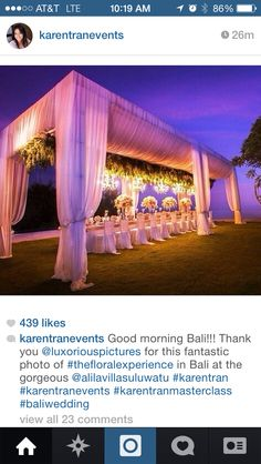 Tent wedding! Super GORG!!