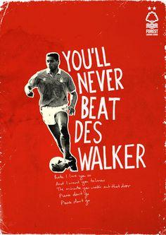 Nottingham Forest Legends Series Des Walker