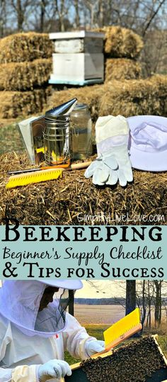 If you want to learn how to start beekeeping, here's a helpful list of beginning beekeeping supplies you'll need for beehive kits plus a few tips and tricks to survive the first week with your bees.