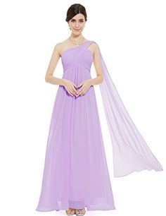 Ever Pretty One Shoulder Padded Ruffles Fashion Long Evening Dresses 09816 * Want to know more, click on the image.