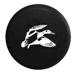 Duck Hunting Water Fowl Flying - Jeep Camper Spare Tire Cover - White, Grey, Camo & Flag Options - LV154 by TheCoverGuy on Etsy